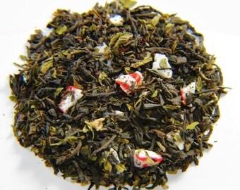Majestic Mint (loose leaf tea) (black tea, peppermint leaves, crushed peppermint, peppermint oil)