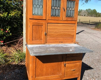 Vintage Hoosier Cabinet , Kitchen Cabinets, Wood Cabinet, Kitchen  Furniture, Hutch, China