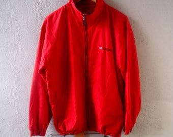 KAEPA ATHLETICS Vintage Windbreaker Jacket Full Zipper sz M Medium 100% Polyester