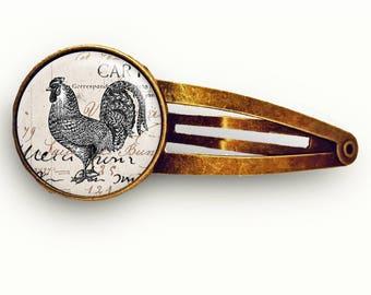 Vintage Rooster Hair Clip
