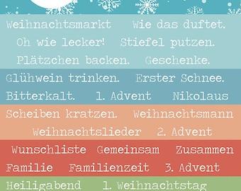 084-Hello December word shreds