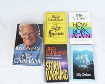 Lot of 5 Billy Graham Books on Evangelical Christian Faith  Lot # 1209