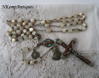 Antique rosary 1900 Mother of pearl