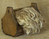 Washed Fawn Suri Alpaca Locks: 1 ounce (Bentley) Fiber for Felting, Spinning or Doll Hair