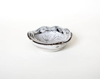 Nils Kahler bowl, Hak studio pottery, Gray white bowl, Denmark danish dish, Collectible stoneware, Modern Mid century, Gray kahler bowl Gift