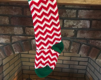 Chevron Christmas Stocking