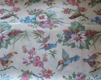 Fabric upholstery 50 x 70 cm birds