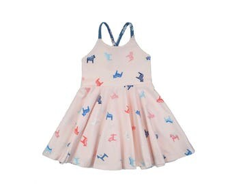 Dala Pink Horses Festival Dress