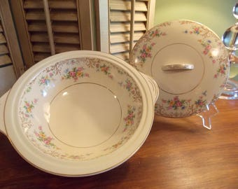 Vintage CASSEROLE, Steubenville  China Casserole with Cover, Serving Casserole Dish, Made in USA