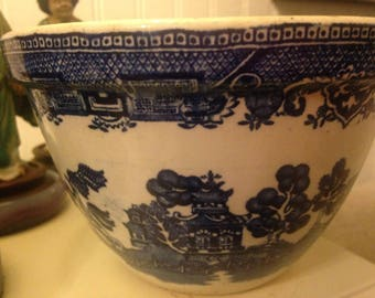 Vintage Antique Blue WIllow Ceramic Porcelain Bowl Small Mixing Bowl #36