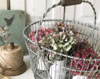 A really nice vintage French wire fruit basket