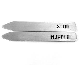 Stud Muffin, personalized gifts for men, birthday for husband, personalized collar stays