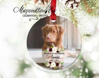 Custom Photo Ornament - Remembrance Christmas Ornament - Personalized Gift Pet Memorial Ornament - Memorial Gift - Dog Memorial Ornament