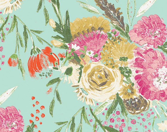Summer Bouquet in Clear- Knit- Wild Bloom by Bari J. for Art Gallery Fabrics
