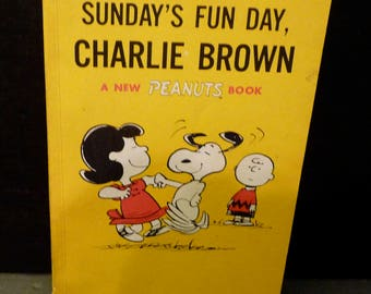 Sunday's Fun Day Charlie Brown- 5th printing 1967- Charles M. Schultz