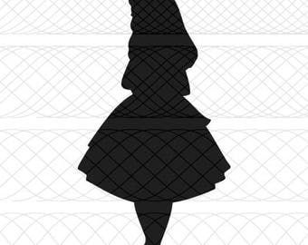 Alice In Wonderland SVG, PNG, and STUDIO3 Cut File for Silhouette Cameo/Portrait and Cricut Explore Craft Cutters