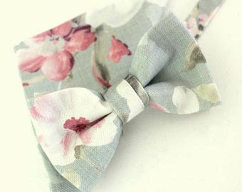 Bow tie,mens bow tie, tie,grey,light grey,pink,coutrystyle