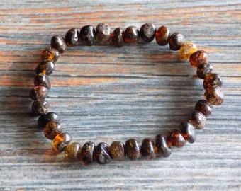 7.25 inch Baltic Amber Stretch Bracelet