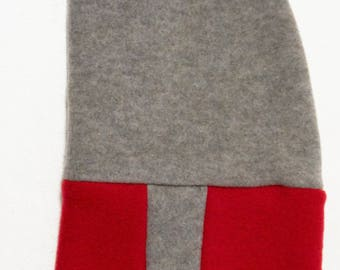 neck-hood in organic wool  and cashmere
