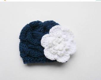 ON SALE 10% SALE Newborn Baby Beanie Hat, Knit Baby Hat, Girls Beanie Hat , Newborn Baby Hats , Baby Hat Photo Prop , Knit Baby Hat