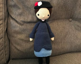 Mary Poppins Doll Stuffed Toy (Made to Order)