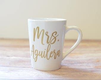 Mrs Mug, Future Mrs Mug, Engagement Gift, Bride Mug, Wifey Mug, Mrs Cup, Bridal Shower Gift, Bride to Be Mug Gift, Custom Coffee Mug, Bride