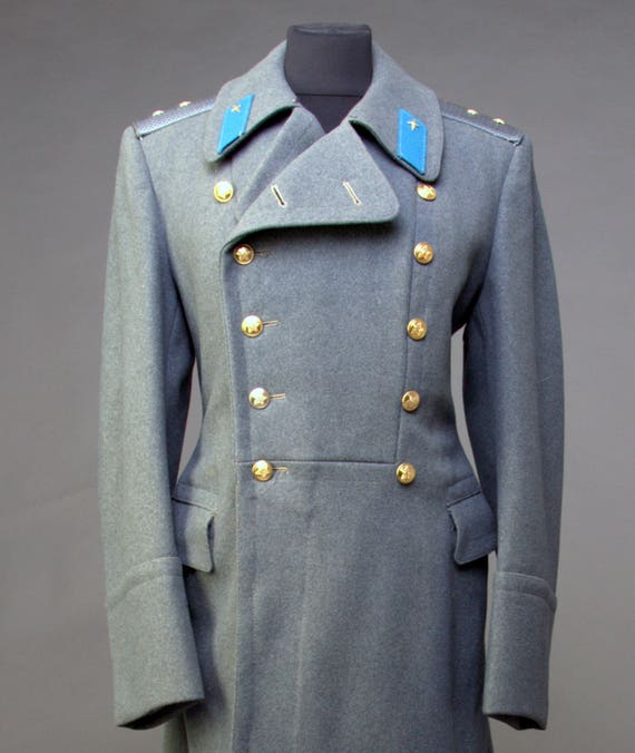 Rare military greatcoat officer totalitarian communist Bulgaria long trench coat,military overcoat