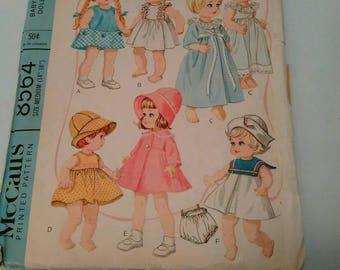 Vintage Macllals Babies Toddler's doll wardrobe pattern