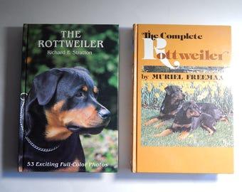 2 Rottweiler 1985 Hardcover Books Stratton + Freeman Care Training Health of Dogs