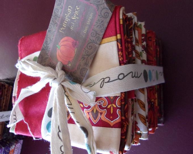 Pumpkin and Spice by Deb Strain for Moda 25 Fat Quarter Bundle Cotton Fabric