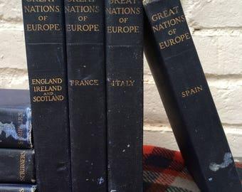 Set of Vintage Blue  Books