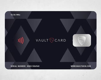 VAULTCARD - RFID Blocking and Jamming Credit Card Protection      for your wallet and passport / NFC Security