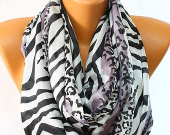 Silky Chiffon Lilac Scarf Leopard Scarf Zebra Scarf Lightweight Scarf Wrap Scarf Summer Scarf Women Fashion Accessories Scarves For Her