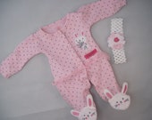 Oh! Those Lil' Bunny Toes!  Upcycled doll outfit -- Perfect for Easter and throughout the year. And who can resist bunny slippers??