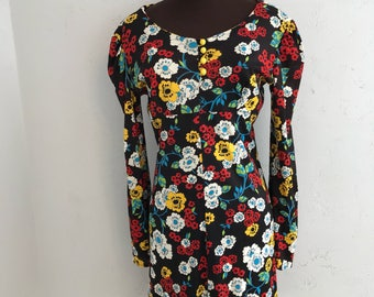 Floral dress with bell sleeve