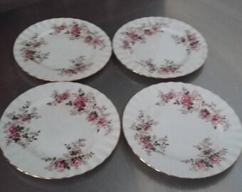 4 Vintage Royal Albert 'Lavender Rose' Tea Side Plates Roses