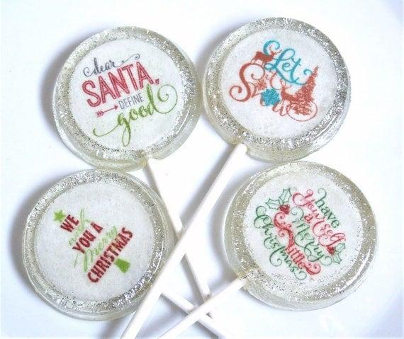 Christmas Party Favor Lollipops Carols