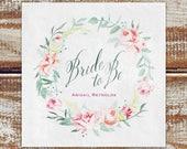 Personalized Bridal Shower Napkins, Floral Bridal Shower Napkins, Cocktail Napkins For Bridal Shower Bride To Be Napkins 3-Ply Paper Napkins