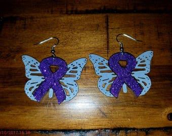 Lupus Awareness Earrings- Qty: 1 pair