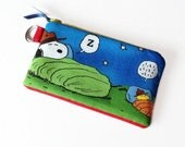 Snoopy Peanuts Purse, Snoopy and Woodstock, Purse with Zipper, Snoopy Gift, Cute Gift Idea
