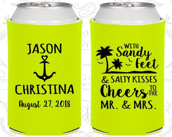 Bright Yellow Wedding, Bright Yellow Can Coolers, Bright Yellow Wedding Favors, Bright Yellow Wedding Gift,Bright Yellow Party Gift (290)