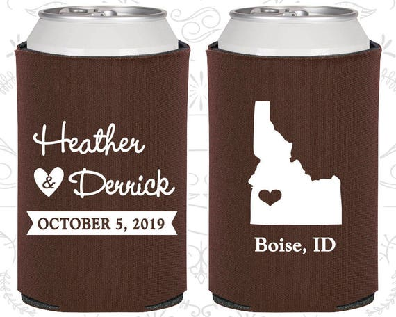 Idaho Wedding Gifts Coolies Destination Wedding Favors State To
