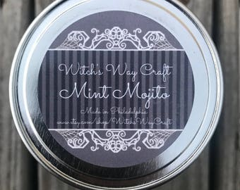 Mint Mojito Scented Soy Candle // Cocktail Candle // Adult Beverage // Aromatherapy Candle // Spa Day // Essential Oils