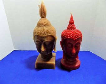 Rare Wax Candles Buddha Sculptures Figurines Asian Zen Thai Oriental Spiritual Religious Hindu