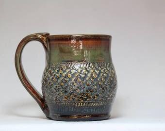 pottery mug, 12oz coffee mug, stoneware pottery mug