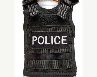 15% OFF SALE Miniature Tactical Vest Beverage Holder - POLICE Product Code: T99-Ptt-03