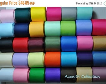 """ON SALE FREE Shipping 170 yards- 1 1/2""""  grosgrain ribbon solid"""