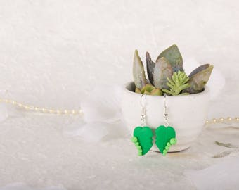 Caterpillar Leaf Earrings