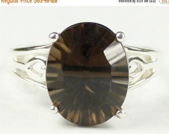 On Sale, 30% Off, Smoky Quartz, 925 Sterling Silver Ring, SR139