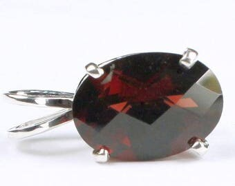 On Sale, 30% Off, Mozambique Garnet, 925 Sterling Silver Pendant, SP006